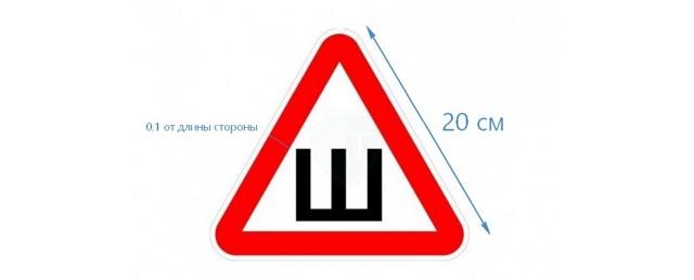 Куда по правилам нужно клеить знак «Шипы»? Правила установки и штрафы на 2019 год