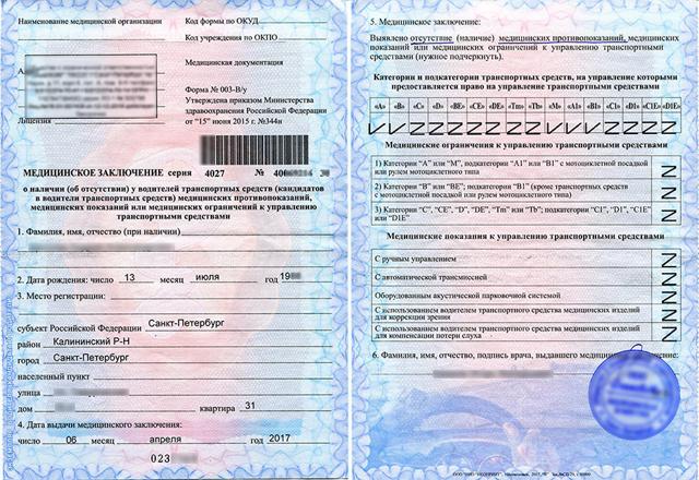Как получить медицинскую справку для водительских прав в 2019 году (подробная инструкция)?